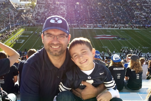 My son and I at the BYU game 500