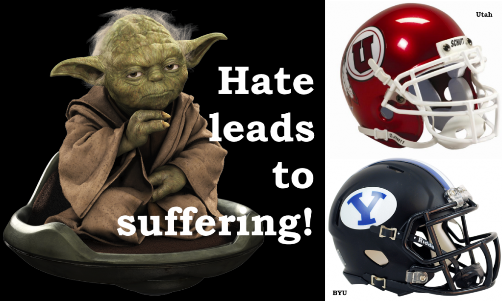 Byu vs Utah - Hate leads to suffering